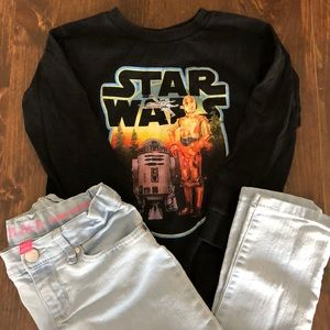 Outfit- Star Wars long sleeve tee and jeans